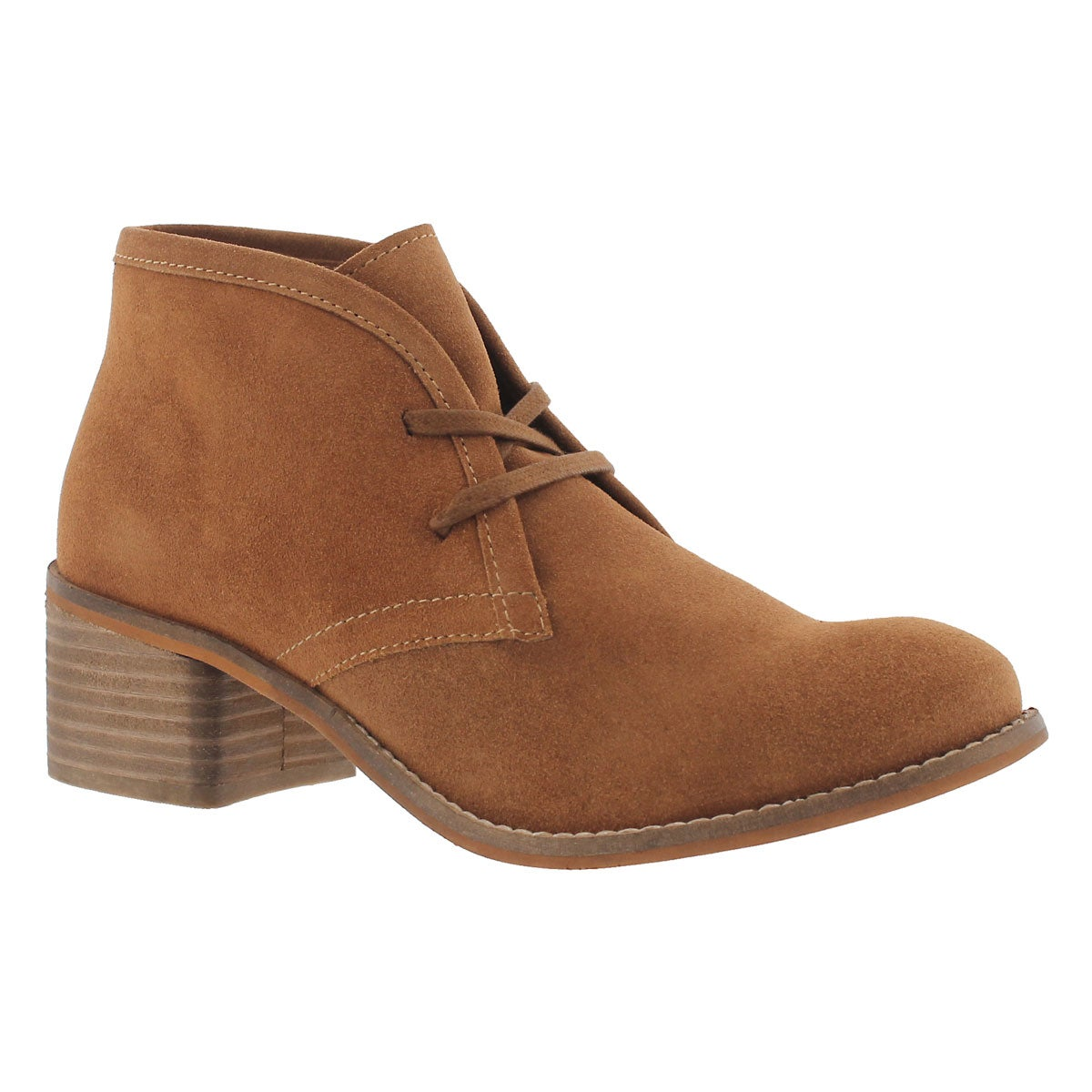 Women's FIONA dark tan lace up casual booties