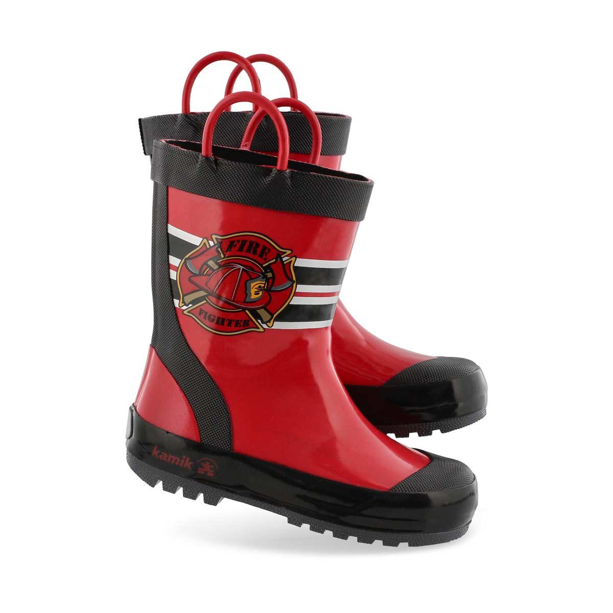 Bys Fireman red rain boot