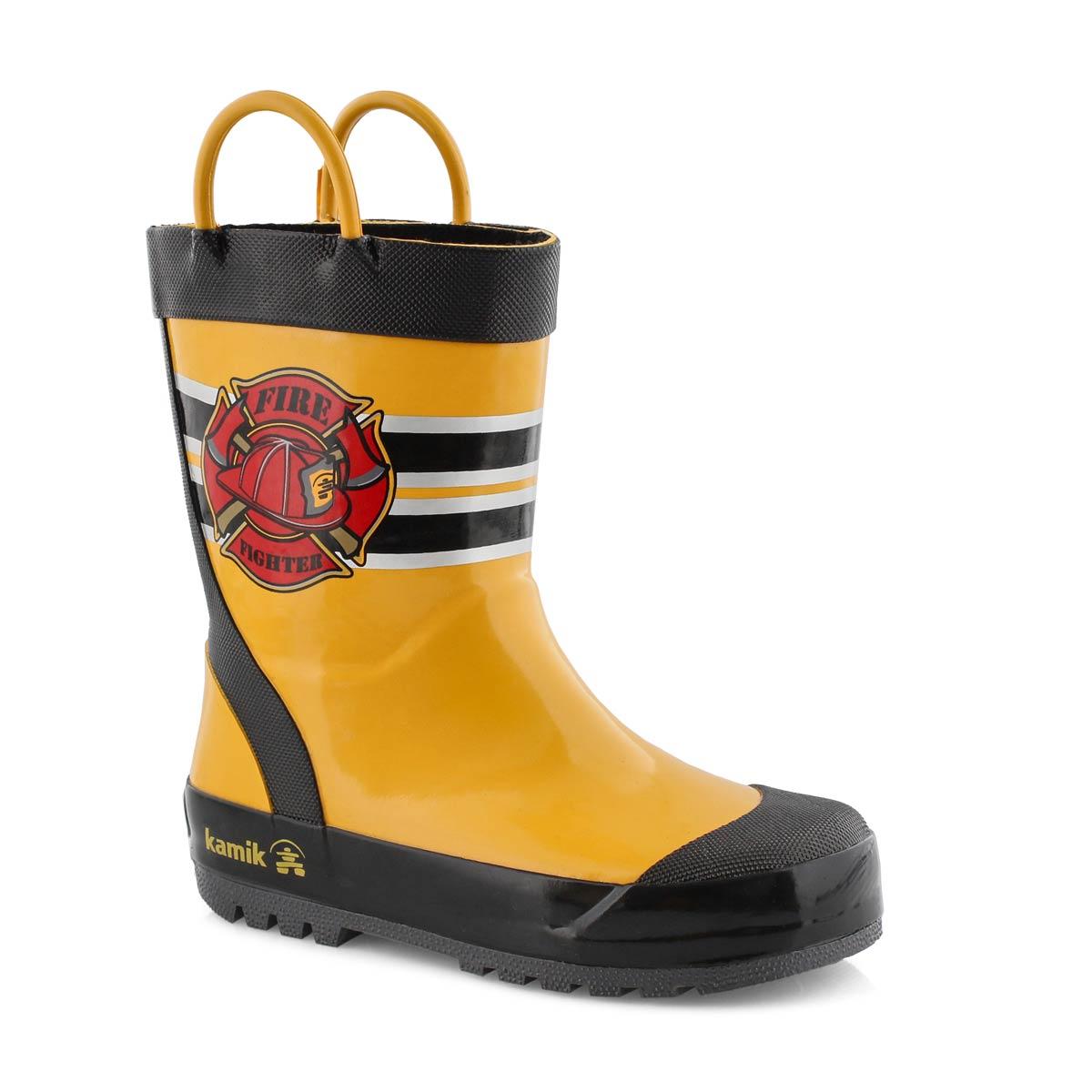 Bys Fireman yellow rain boot