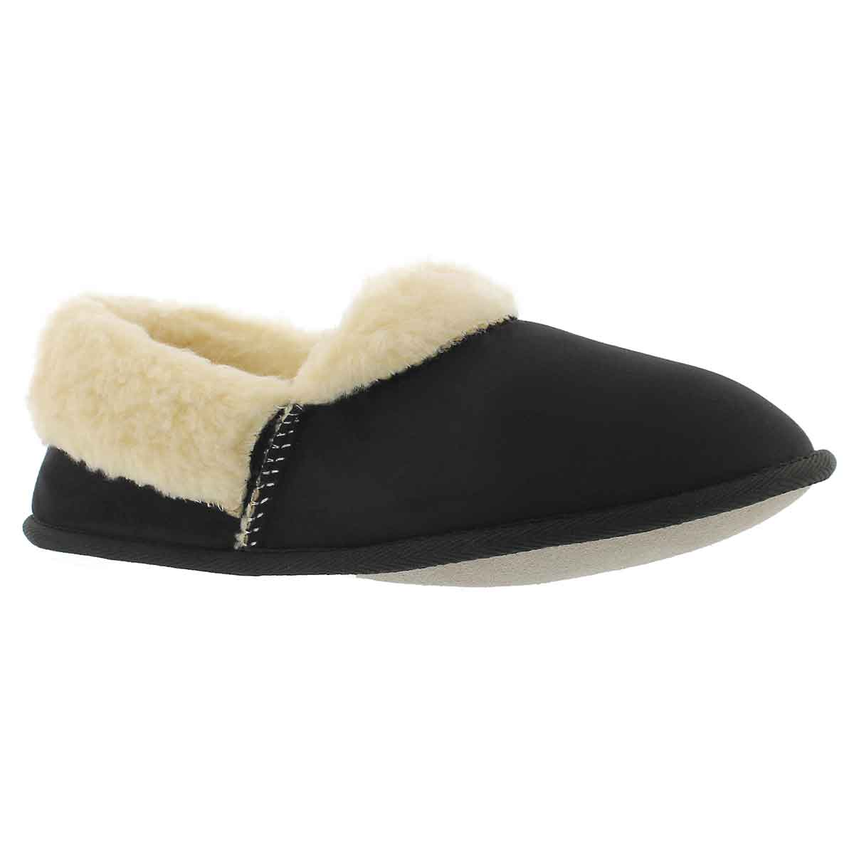 Mns Flapjack black closed back slipper