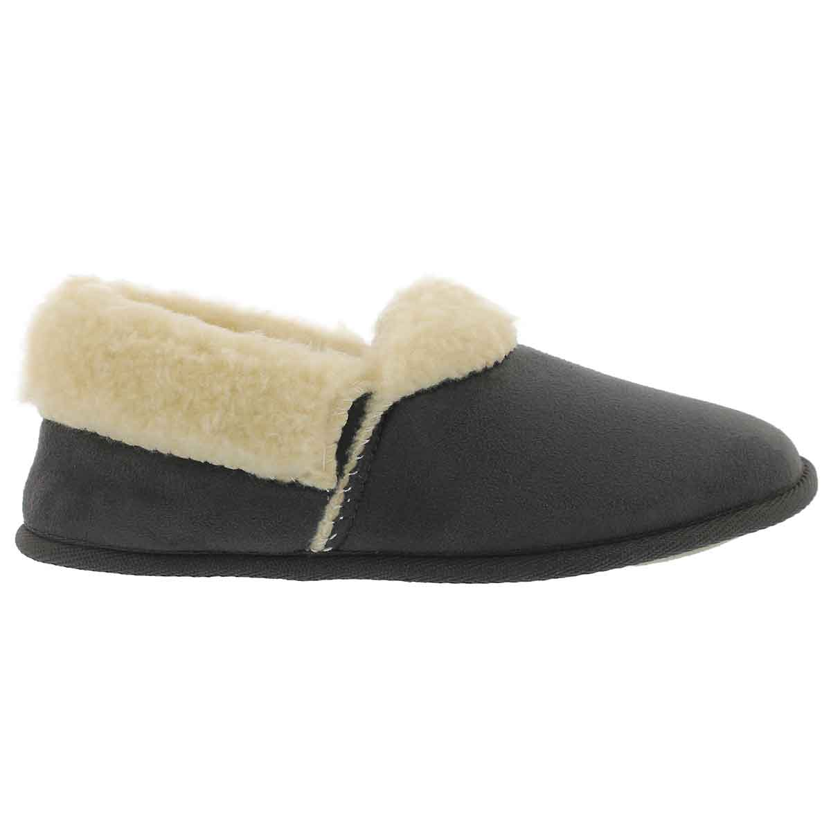 Lds Flapjack char closed back slipper