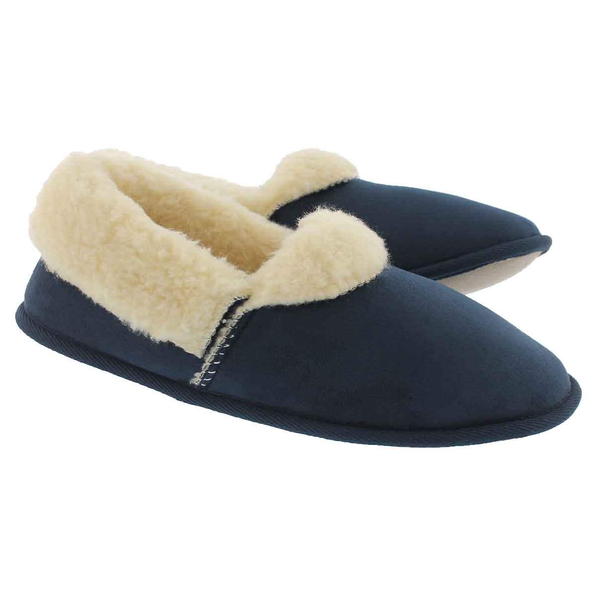 Mns Flapjack navy closed back slipper