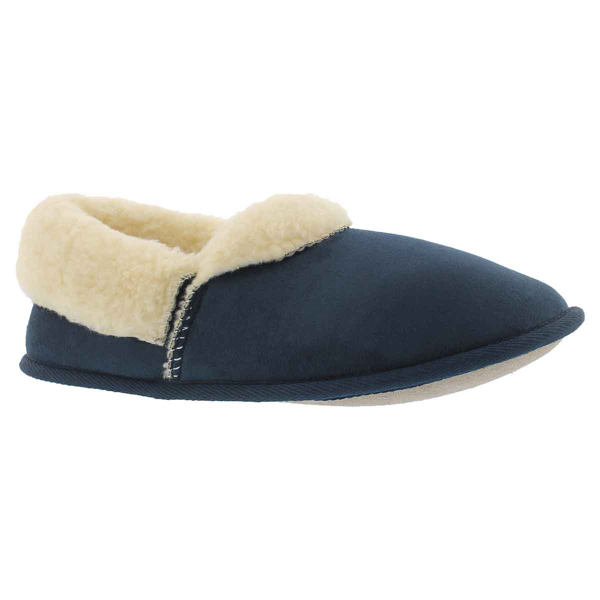 Men's FLAPJACK navy closed back slippers