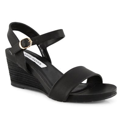 Lds Florence black wedge sandal