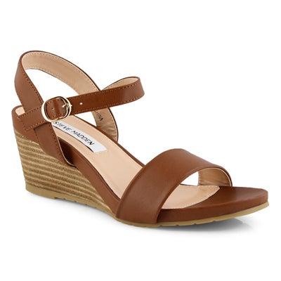 Lds Florence cognac wedge sandal