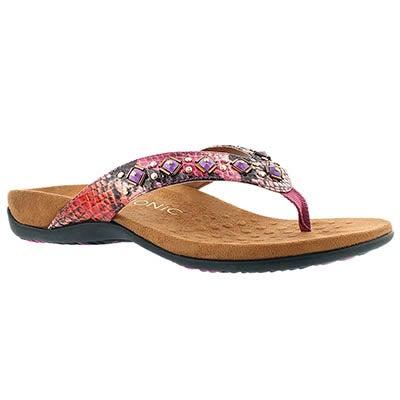 Vionic Women's FLORIANA pink arch support flip flops