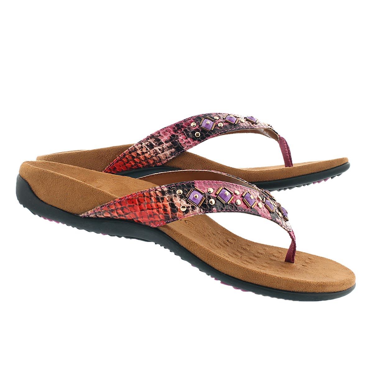 Sandale tong ortho. FLORIANA, rose, fem