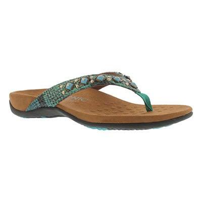 Vionic Women's FLORIANA teal arch support flip flops