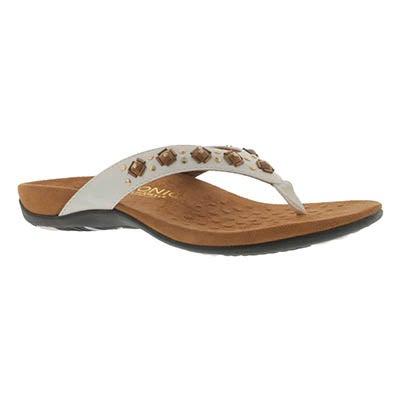 Vionic Sandale tong orthopédique FLORIANA, blanc, femmes