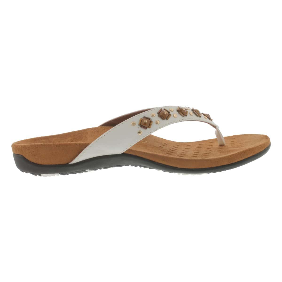 Sandale tong blanc FLORIANA, fem