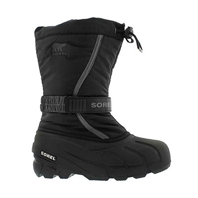 Bys Flurry blk/gry pull on winter boot