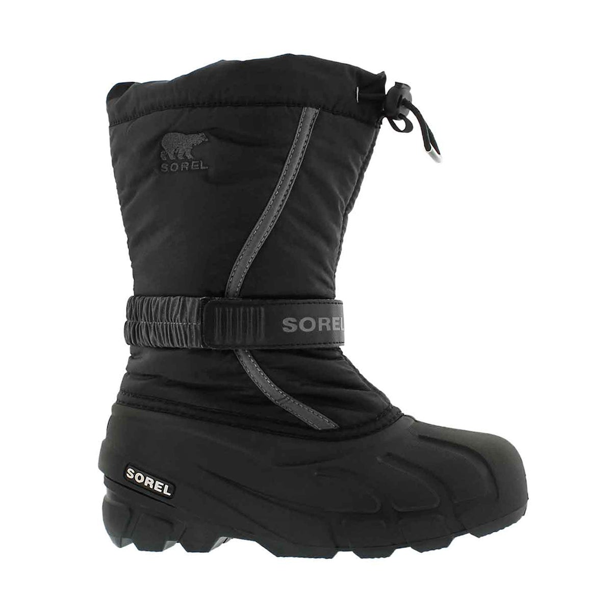 Boys' FLURRY black/grey pull on winter boots