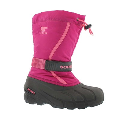 Sorel Girls' FLURRY blush/pink pullon winter boots