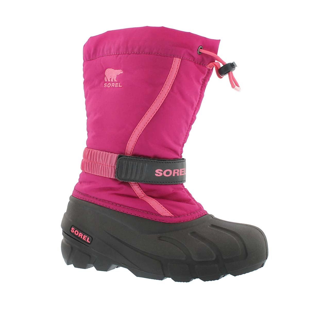 Grls Flurry blush/pnk pullon winter boot