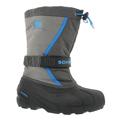 Sorel Boys' FLURRY fog/grey pull on winter boots