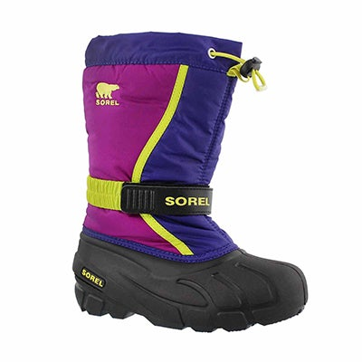 Sorel Girls' FLURRY grape/plum pull on winter boots