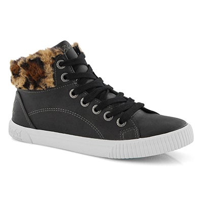 Lds Forest black hi top sneaker