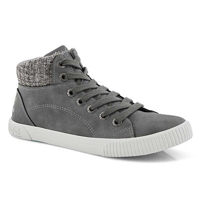 Lds Forest grey hi top sneaker