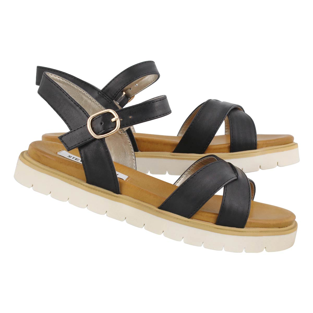 Lds Francois black casual sandal
