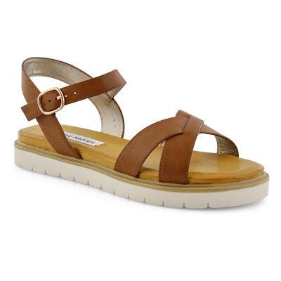 Lds Francois cognac casual sandal