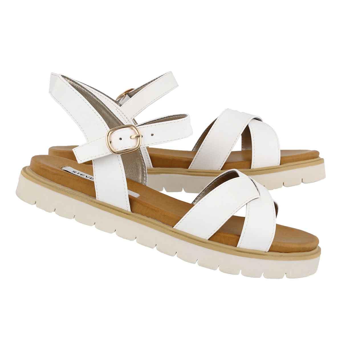 Lds Francois white casual sandal