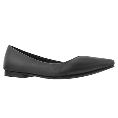 Lds Franki black dress flat