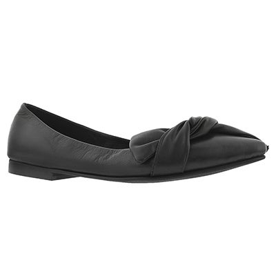 Lds Franziska black dress flat