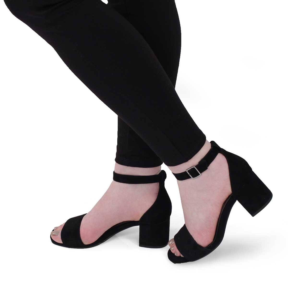 Lds Freda black dress sandal