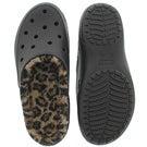 Lds Freesail Leopard Lined blk/gld clog