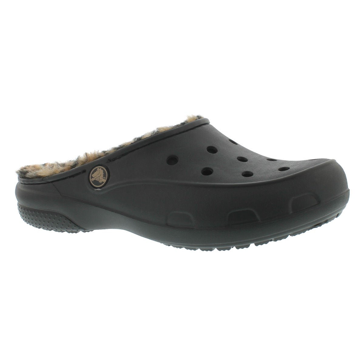 Women's Freesail lined black/gold casual clogs