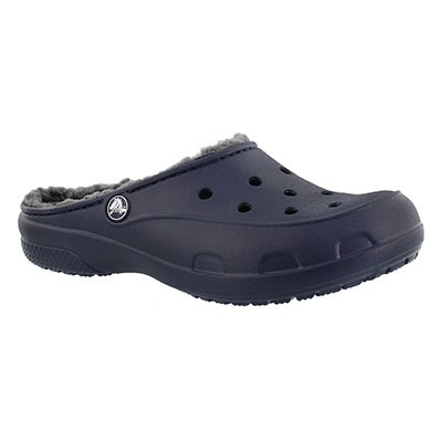 Crocs Women's FREESAIL PLUSH LINED navy clogs