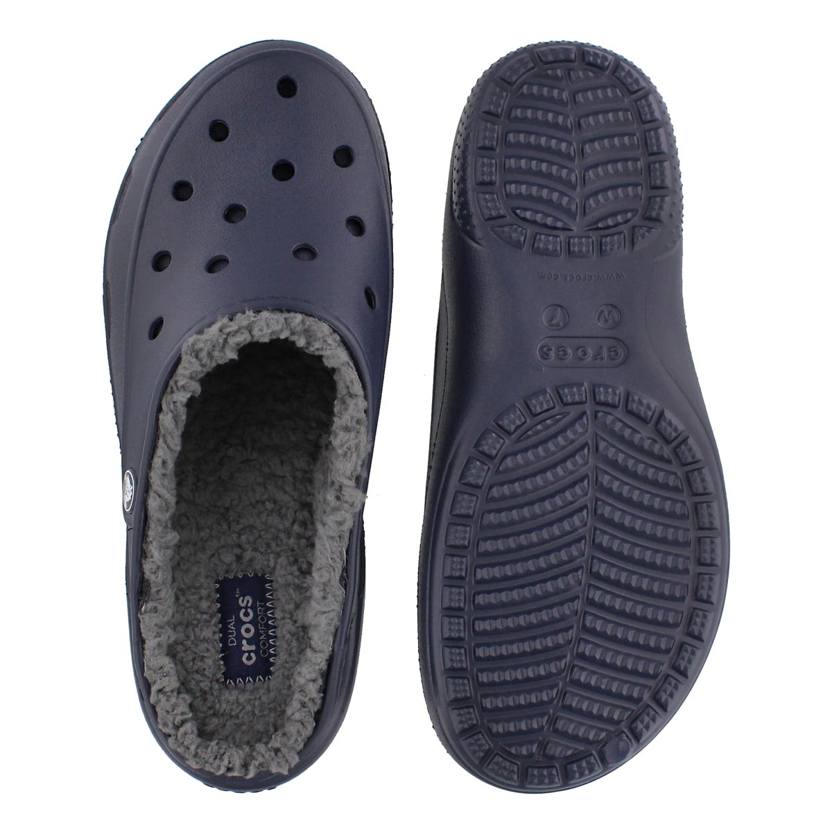 Lds Freesail Plushlined navy clog
