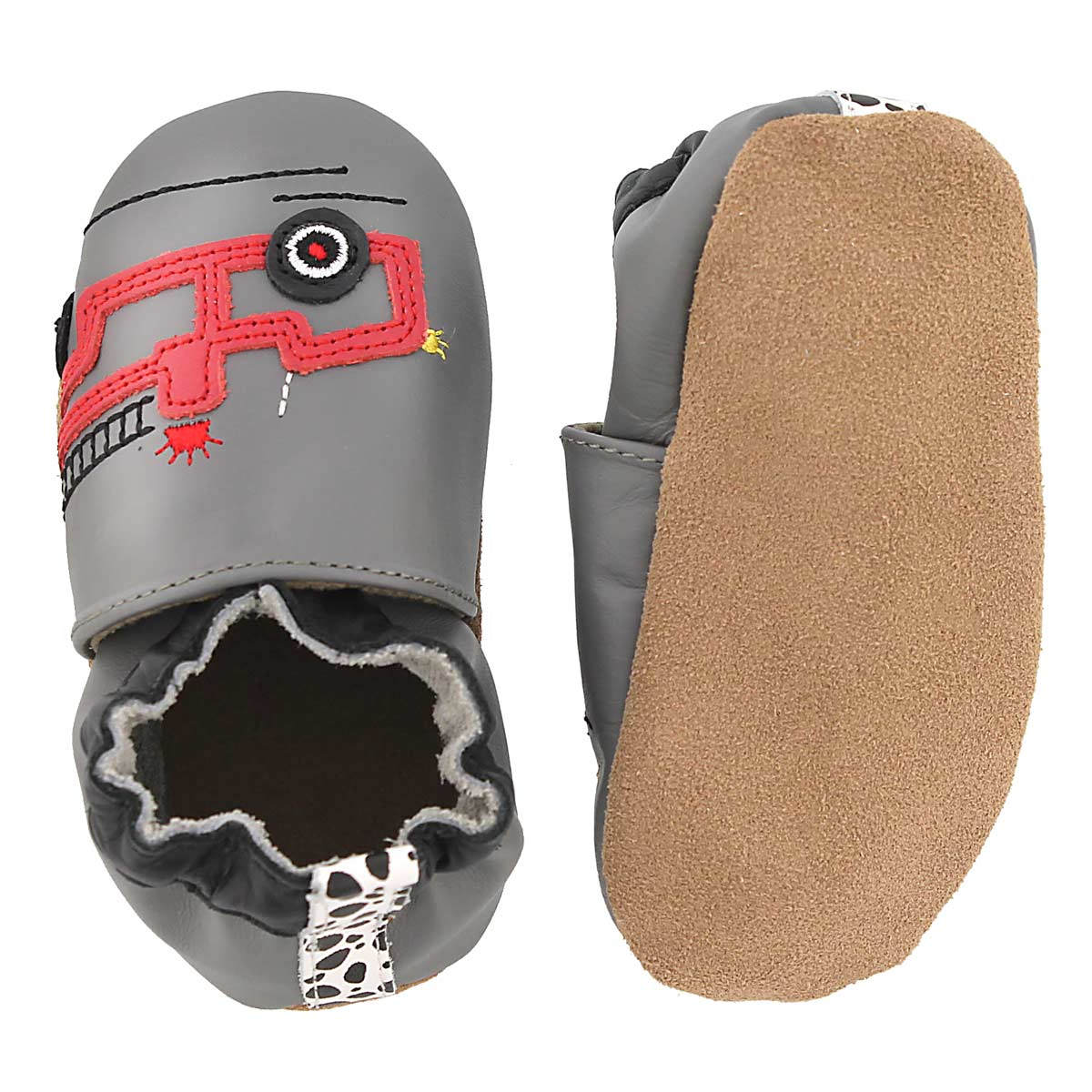 Inf Friendly Fire Truck gry soft slipper