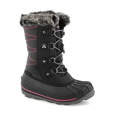 Grls FrostyLake black wtpf winter boot