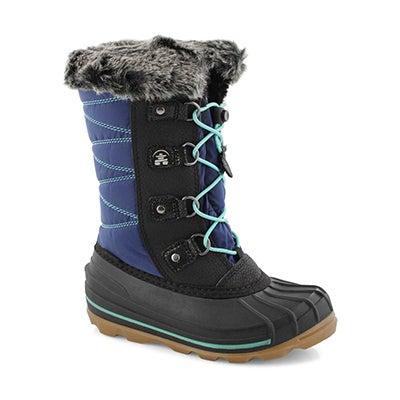 Grls FrostyLake navy wtpf winter boot