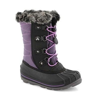Grls FrostyLake purple wtpf winter boot