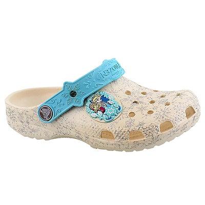 Crocs Girls' FROZEN oyster comfort clogs