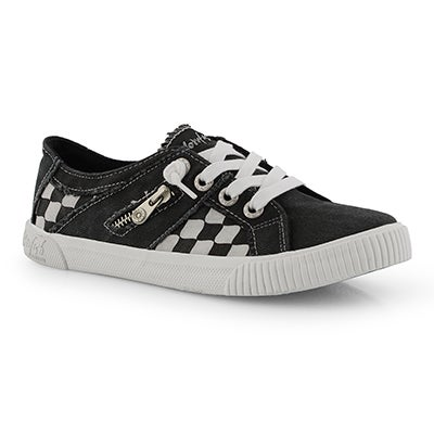 Lds Fruit black lace up fashion sneakers