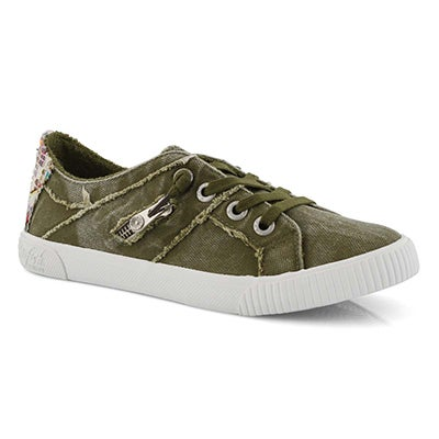 Lds Fruit ivy grn laceup fashion sneaker