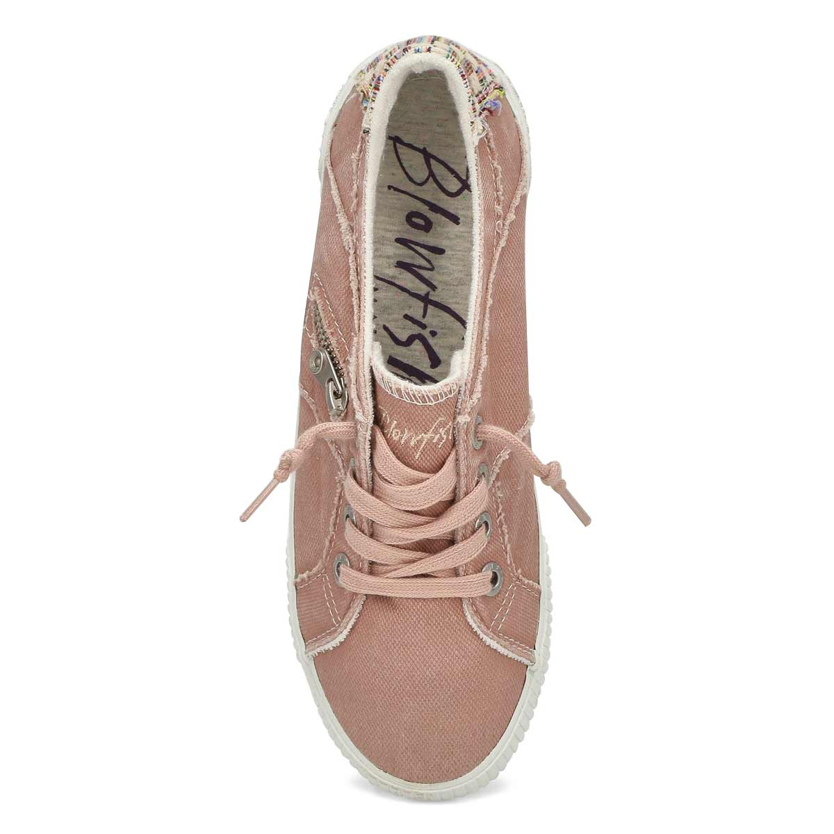 Lds Fruit pink lace up fashion sneaker