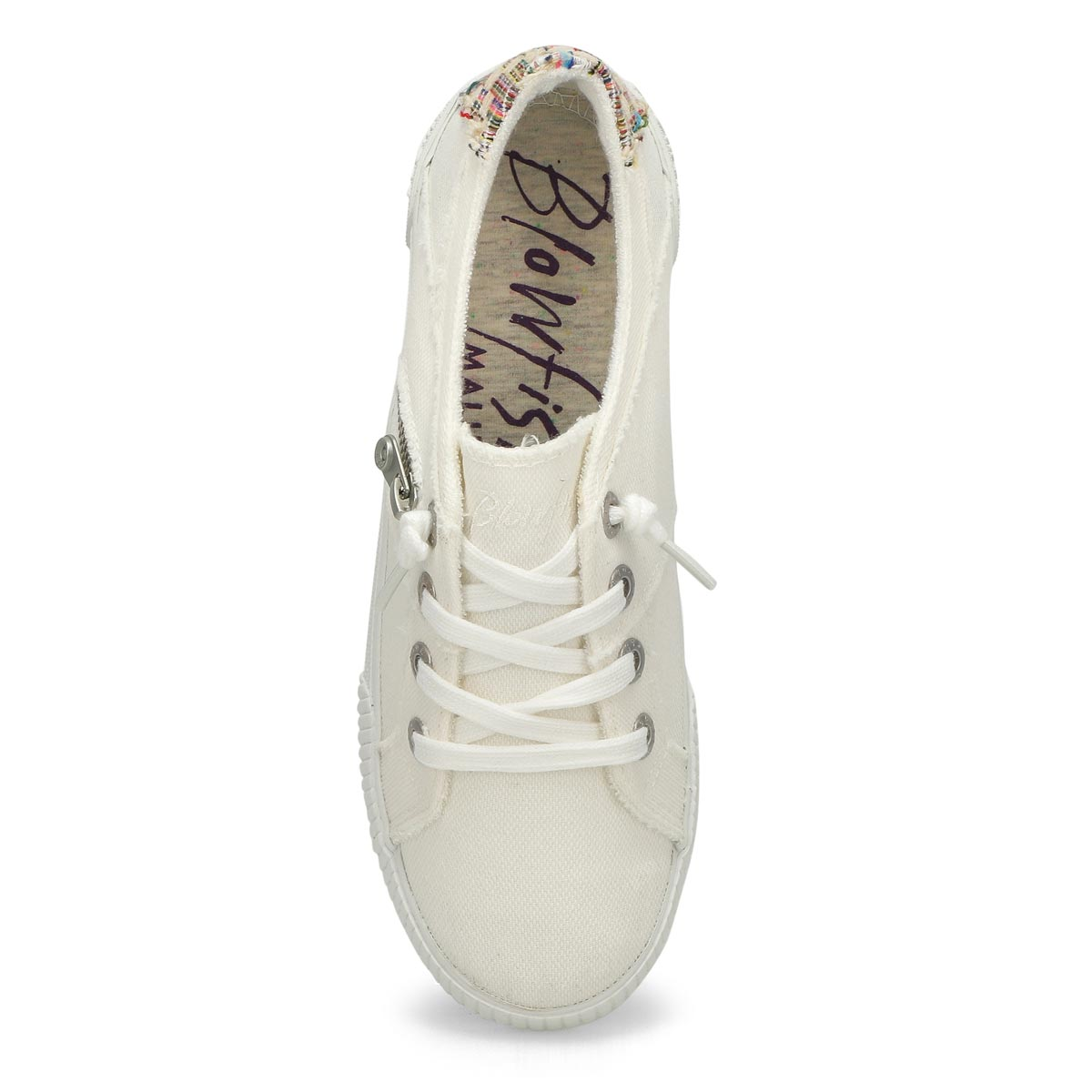 Lds Fruit white lace up fashion sneakers