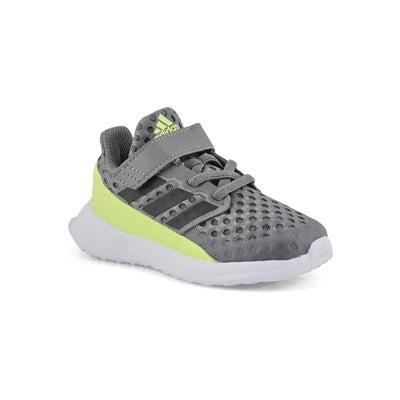 Infs-b RapidaRun I gry/grn running shoe