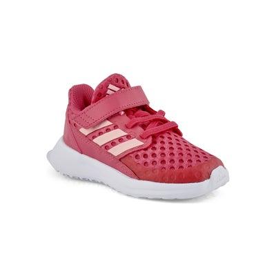 Infs-g RapidaRun I pnk/wht running shoe