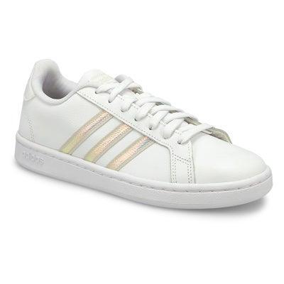 Lds Grand Court wht/alumina sneaker