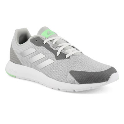 Lds Sooraj grey/silver lace up runner