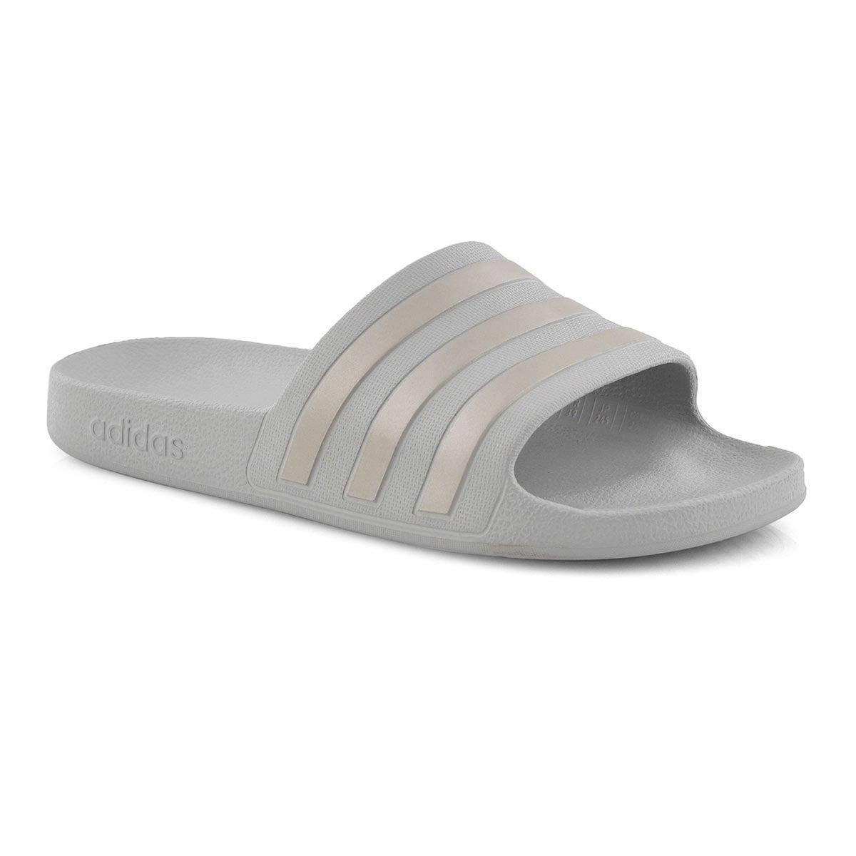Lds Adilette Aqua grey slide sandal