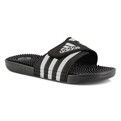 Lds Adissage black/white slide sandal