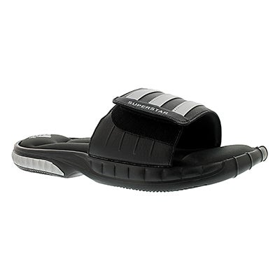 Adidas Men's SUPERSTAR 3G black/silver slide sandals