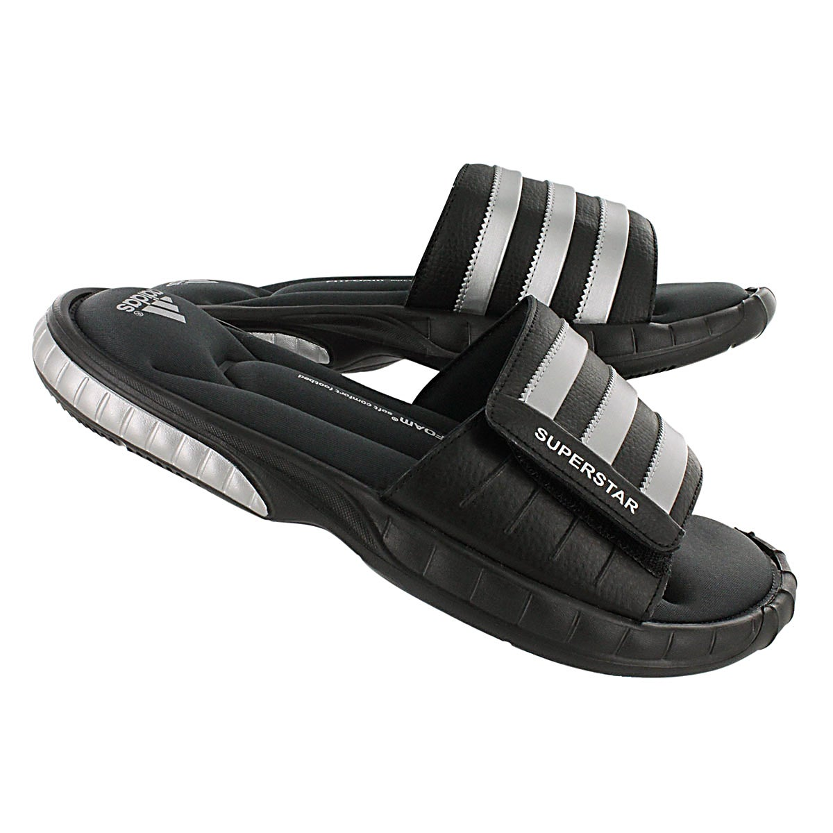 Mns Superstar 3G blk/slv/gry slide