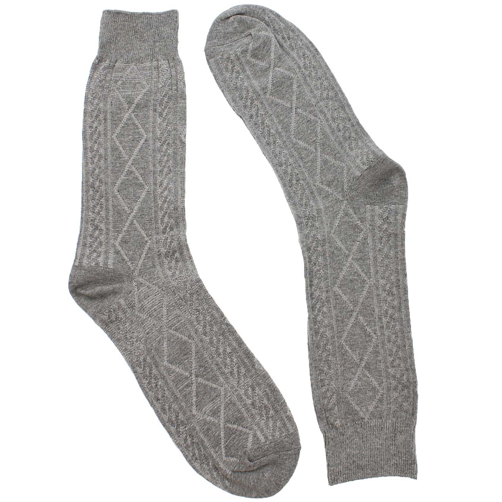 Mns Cable 2 Ply Crew grey sock 1 pk